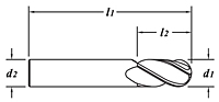 Stub Length-Ball End-Dimension Drawing