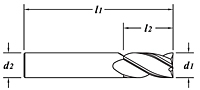 Standard Length-TiALN Coated-Dimension Drawing