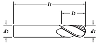 Standard Length-Ball End-Dimension Drawing
