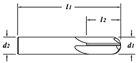 Standard Length-Straight Flute-Ball End-Dimension Drawing