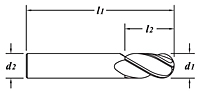 Standard Length-N/C Tolerance-Dimension Drawing