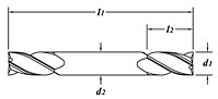 Standard Length-Double End-Dimension Drawing