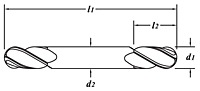Standard Length-Double End-Ball End-Dimension Drawing