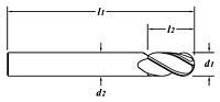 Extra Length-Ball End-Dimension Drawing