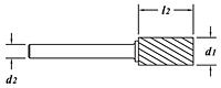 Carbide Rotary Files-Cylindrical Shape-SA-Dimension Drawing